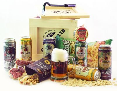Kisten mit Bier